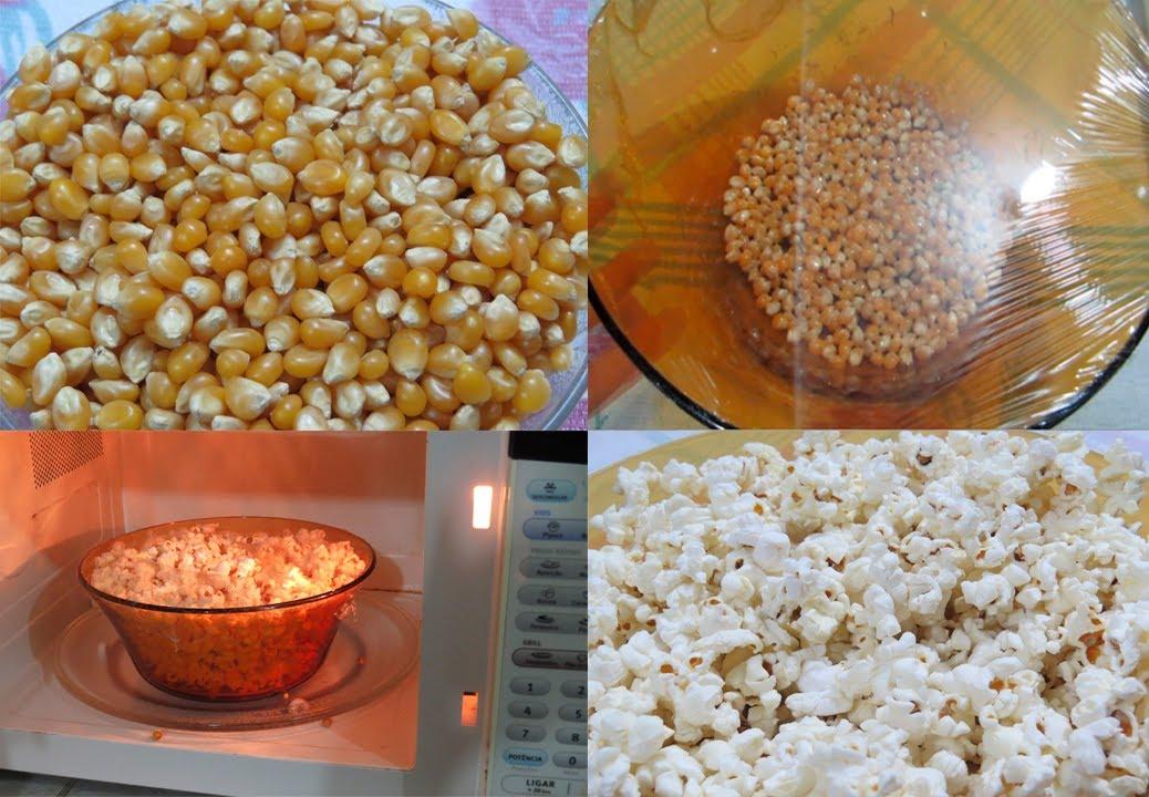 pipoca com milho no microondas